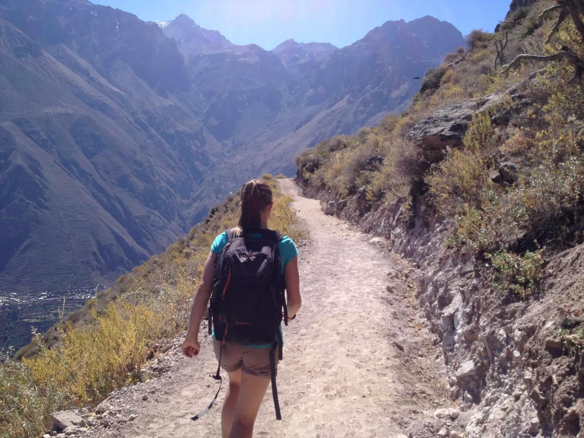 Hiking in the Colca Canyon Peru