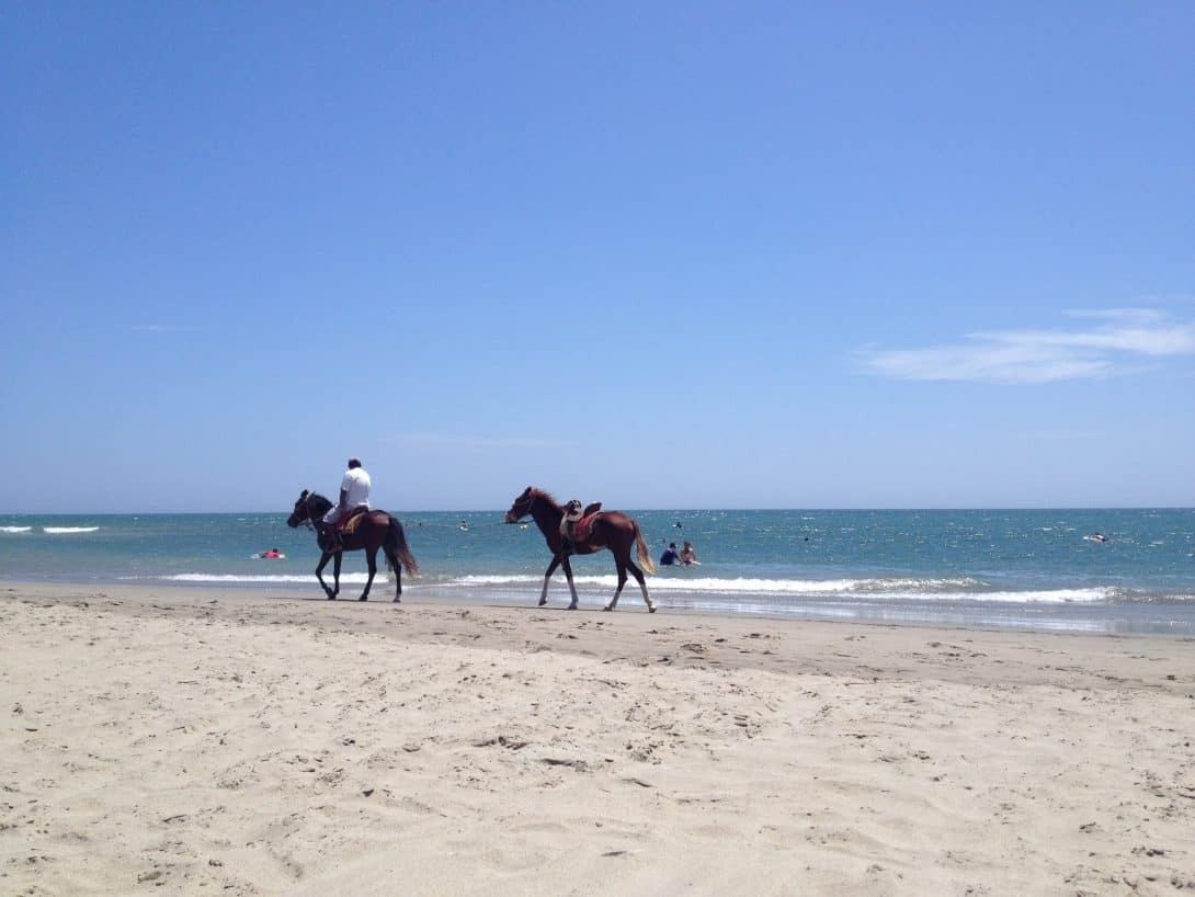 Horse riding on the beach in Máncora Peru