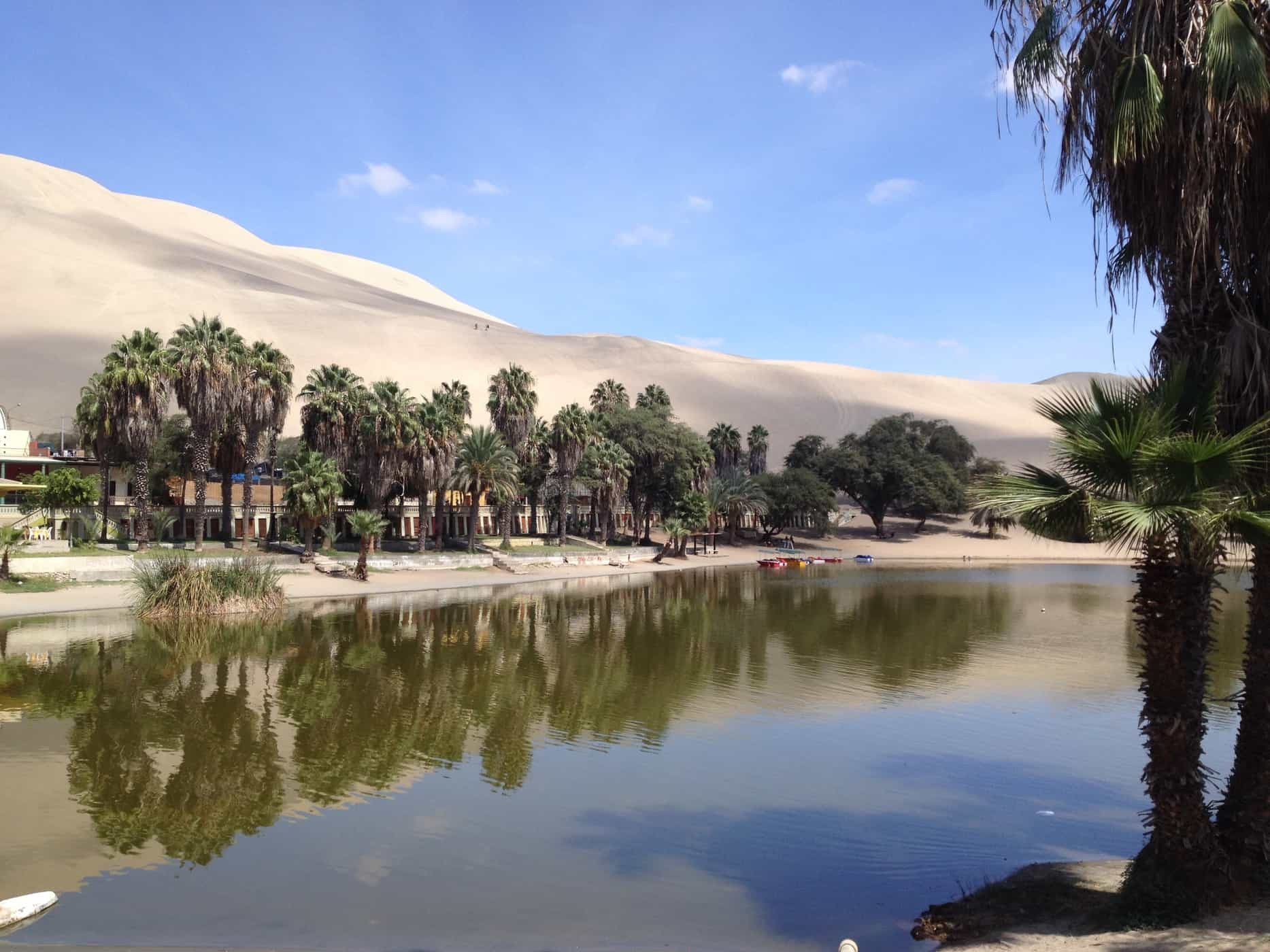 An oasis in the desert. Welcome to the unusual backpacker hub of Huacachina, Peru.