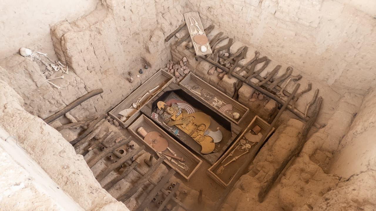 The burial site of El Señor de Sipán, in Sipán, Peru