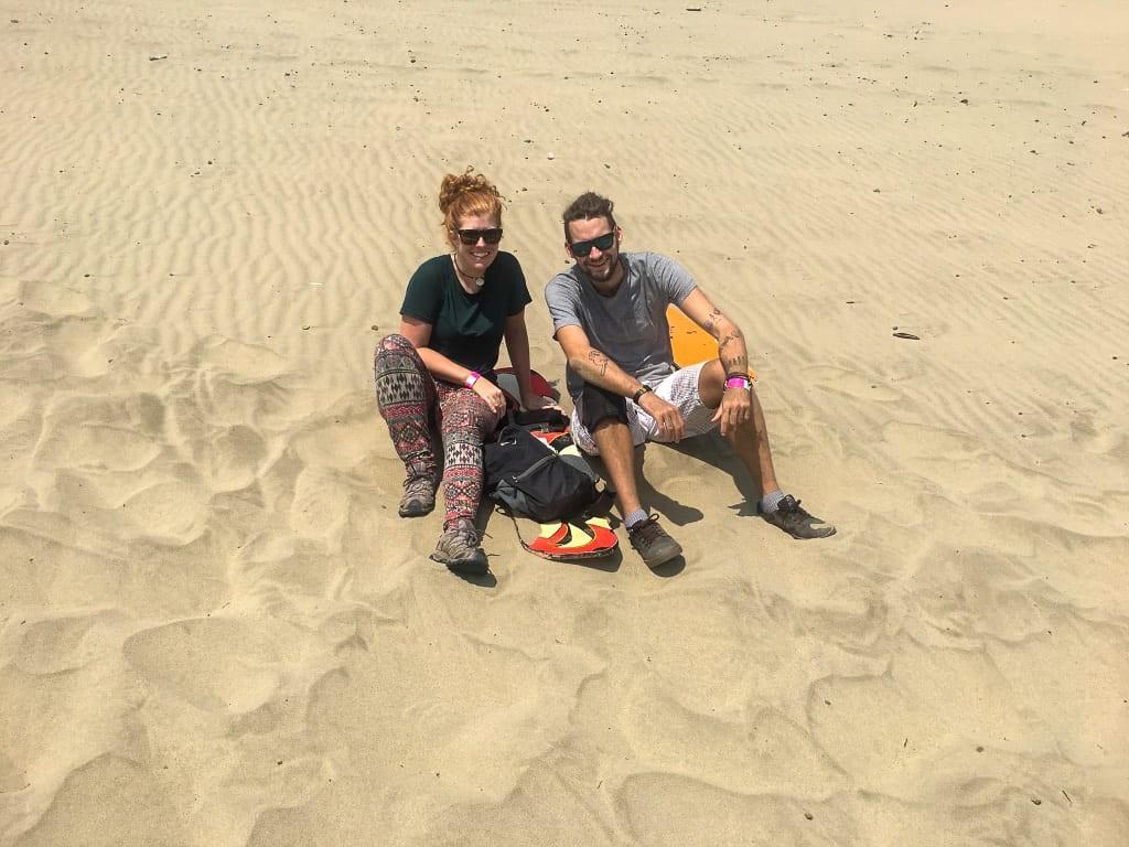 An amazing day sandboarding at Laguna Conache, Peru.
