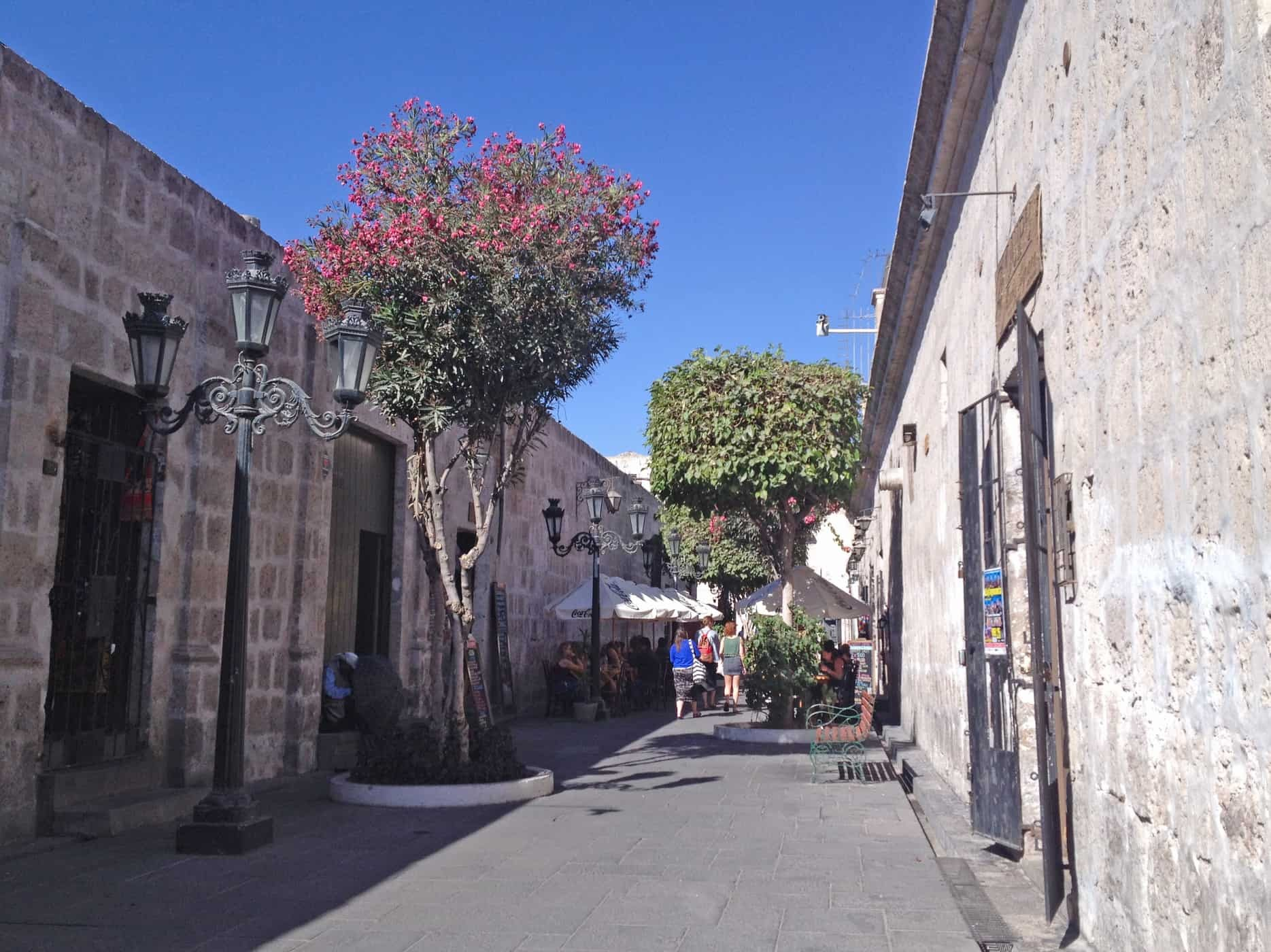 The pretty streets of Arequipa, Peru.