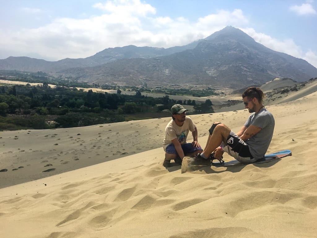 Sandboarding Peru, Trujillo - at Laguna de Conache.