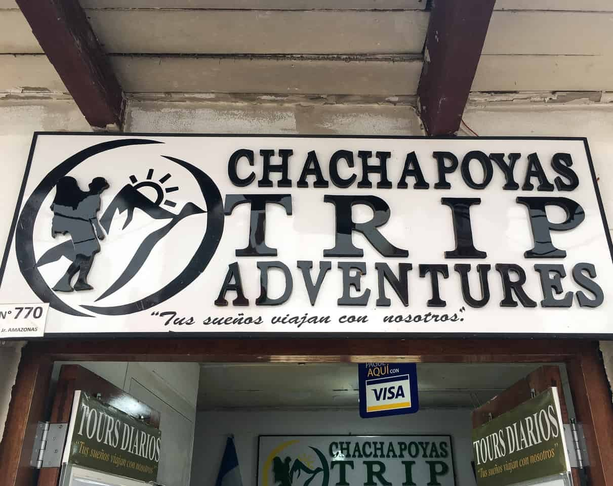 Chachapoyas Trip Adventures office in Peru.