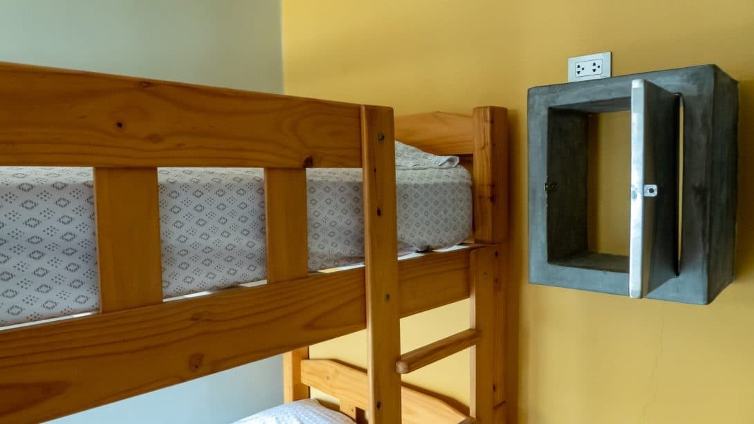 Dorm beds at Banana's Adventure Hostel, Huacachina