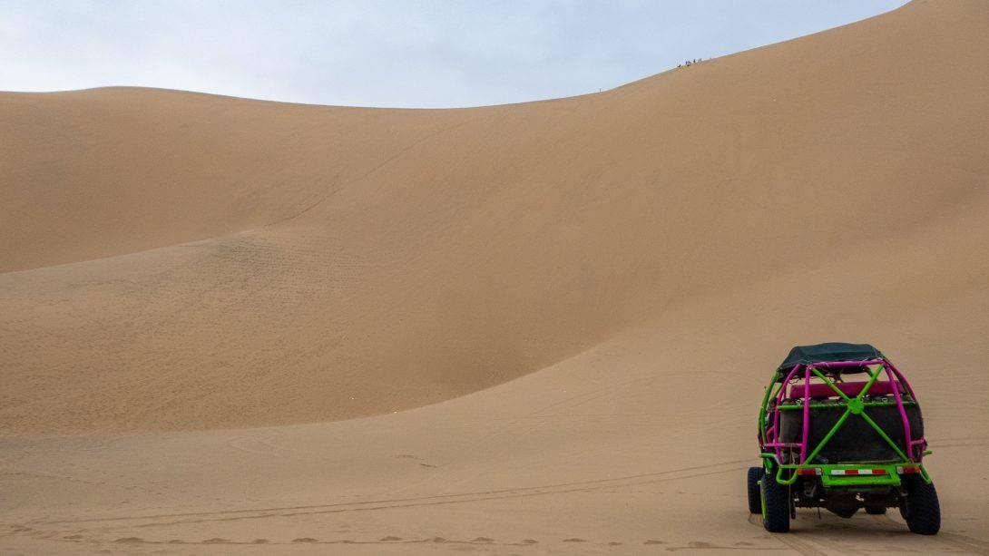 Dune buggy in desert