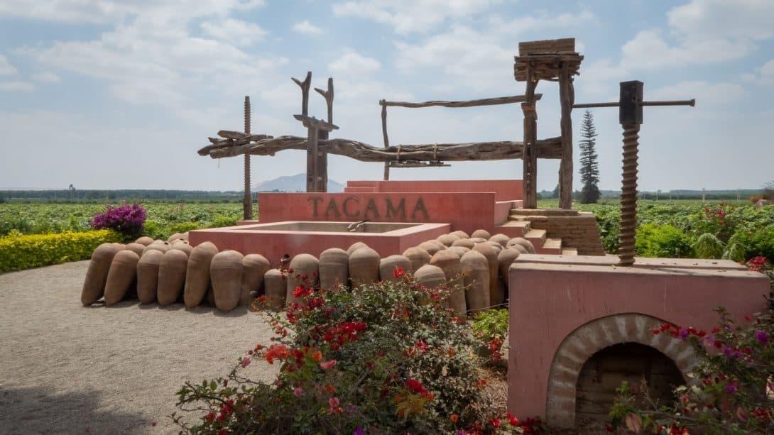 Wine press at Tacama