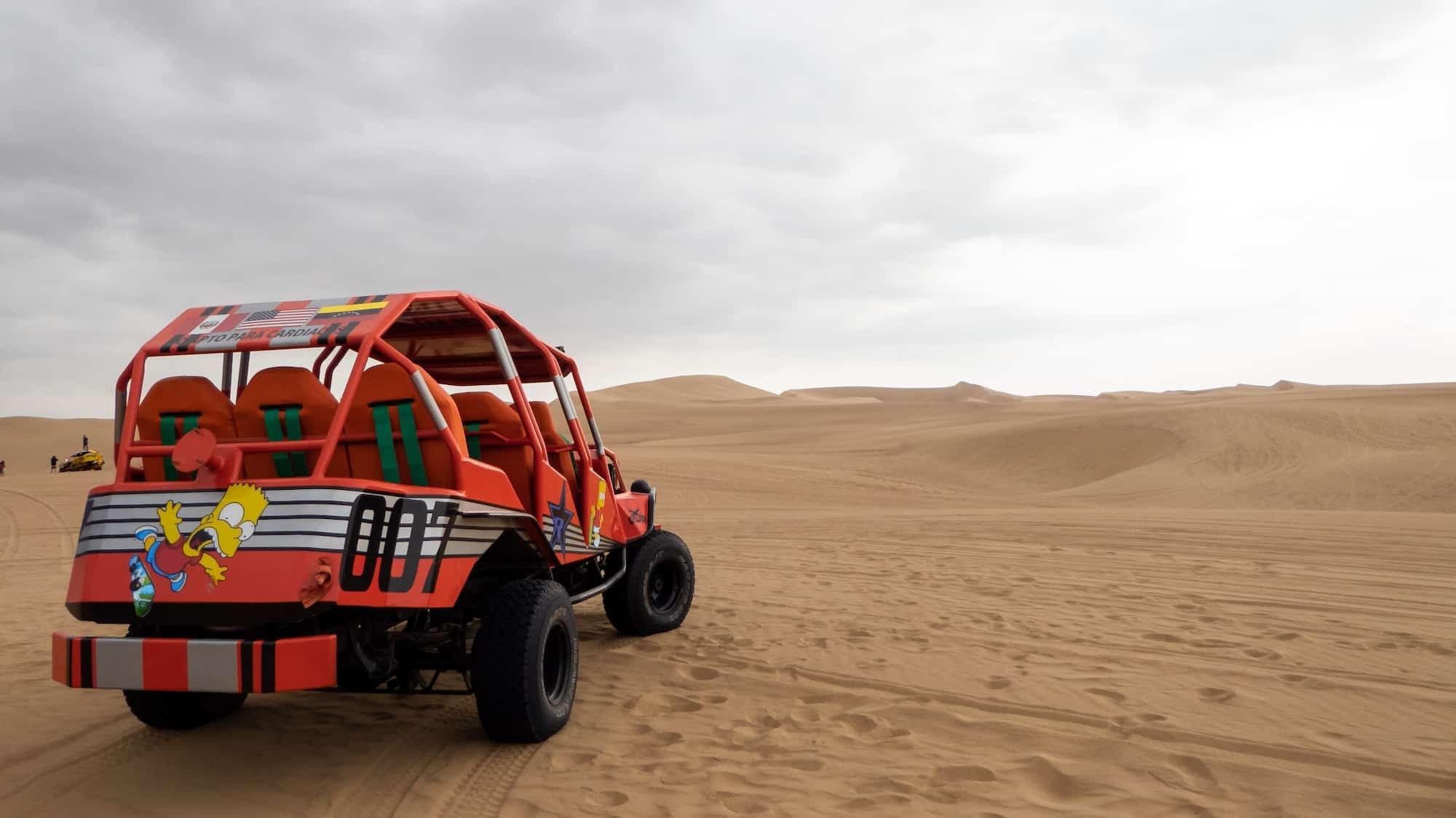 Dune buggy in Huacachina desert- Full Day Ica Tour