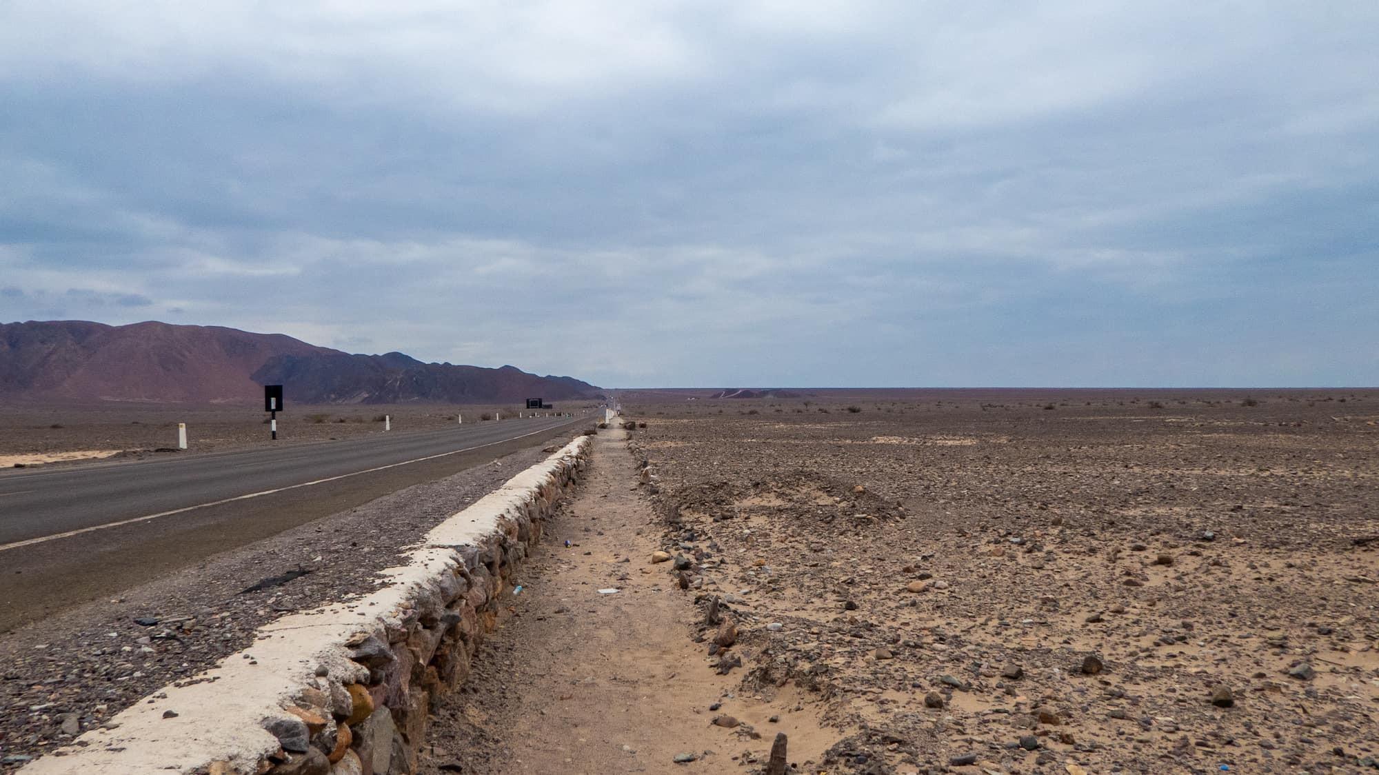 The Pan American Highway, Peru.