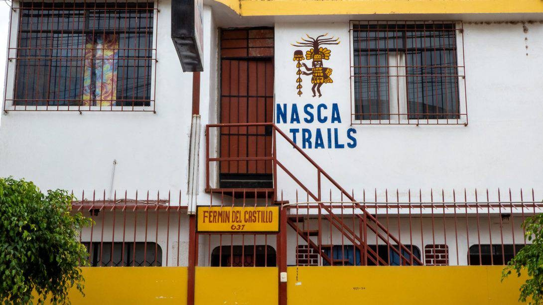 The outside of Nasca Trails B&B, Nasca