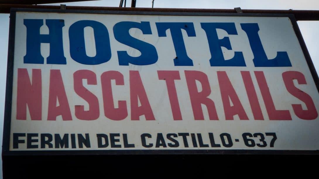 Sign for Nasca Trails B&B