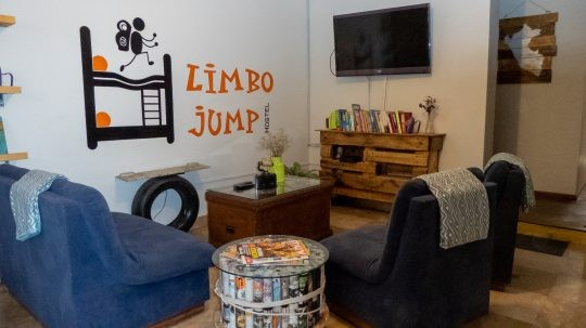 Social area at Limbo Jump Hostel, Arequipa