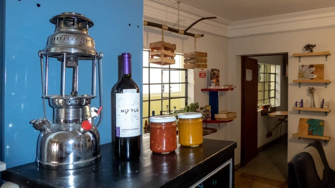 Homemade sauces for sale at Limbo Jump Hostel, Arequipa