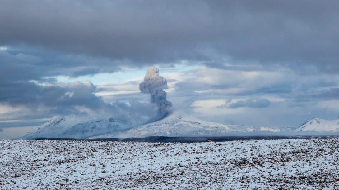 Snowy volcano near Colca Canyon, Peru