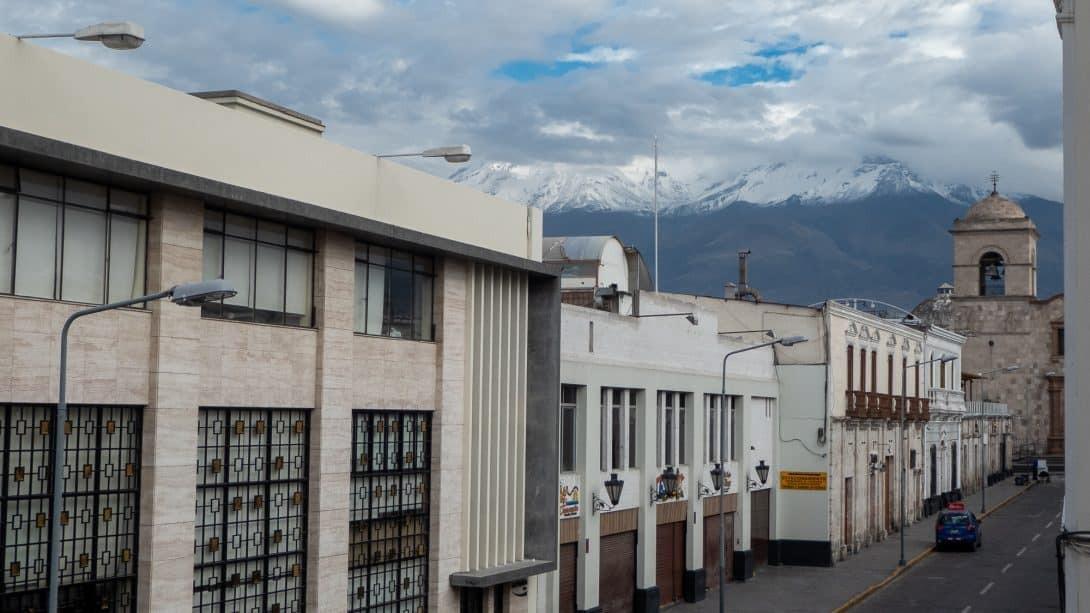 Volcano views across Arequipa