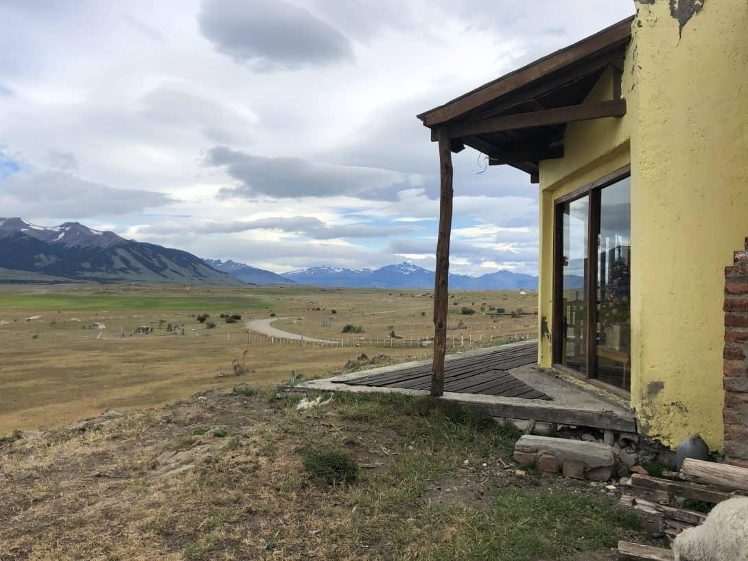 Barren grazing land Patagonia Argentina