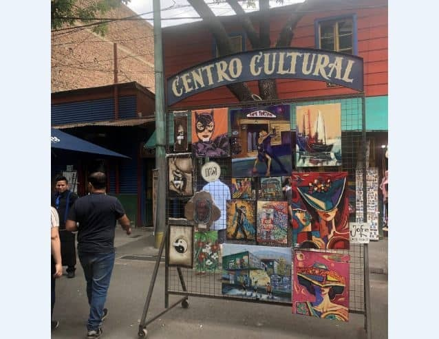 Display of various art works at the Centro Cultural Buenos Aires Argentina