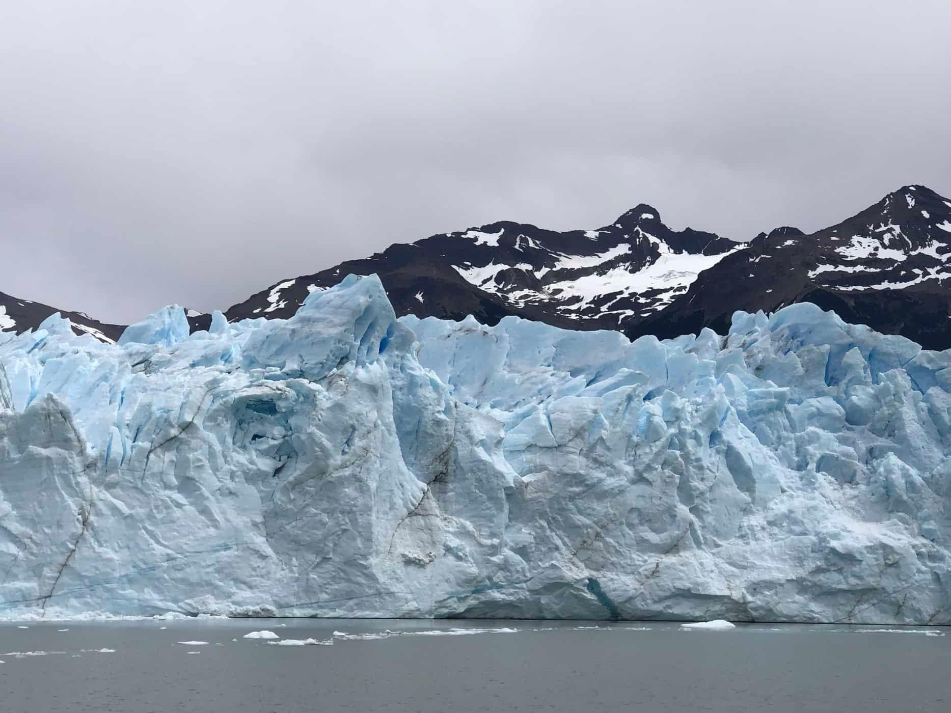 Amazing formation of glacier wall in Perito Moreno Glacier Patagonia Argentina