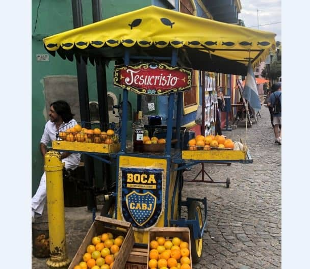 A fruit stand in Buenos Aires, Argentina.