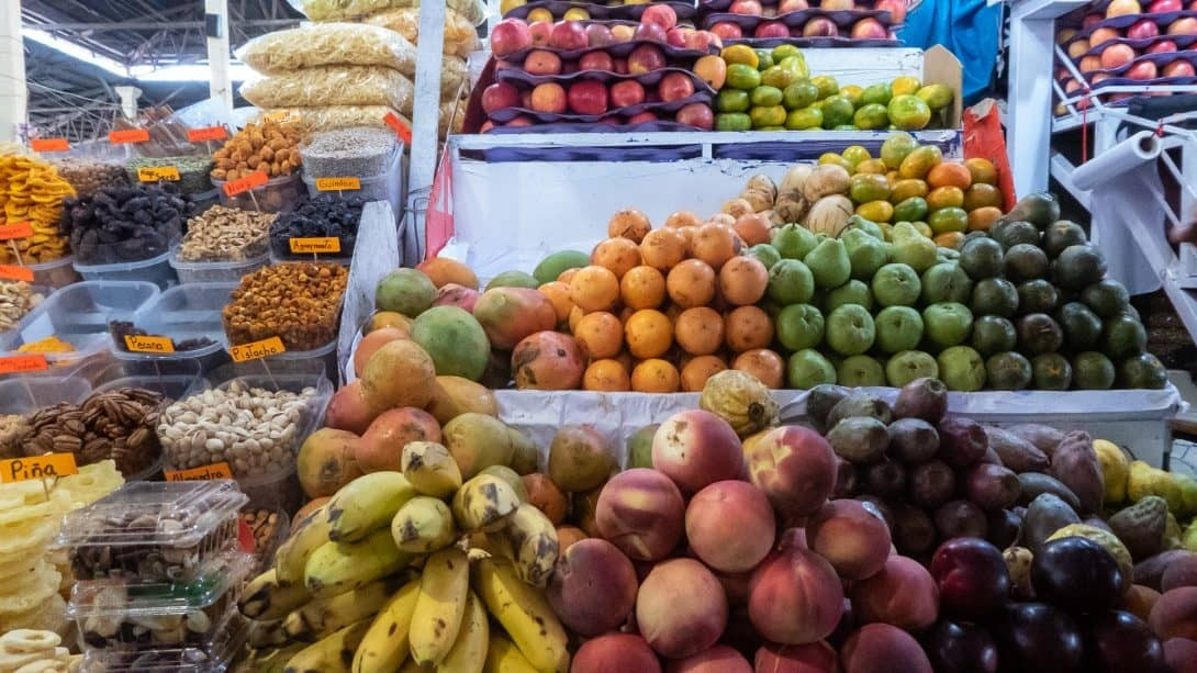 Fruit on San Pedro market tour with Cusco Culinary