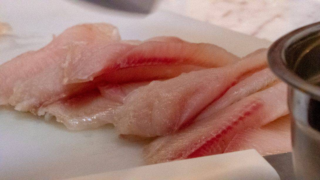 Raw fish for ceviche making with Cusco Culinary