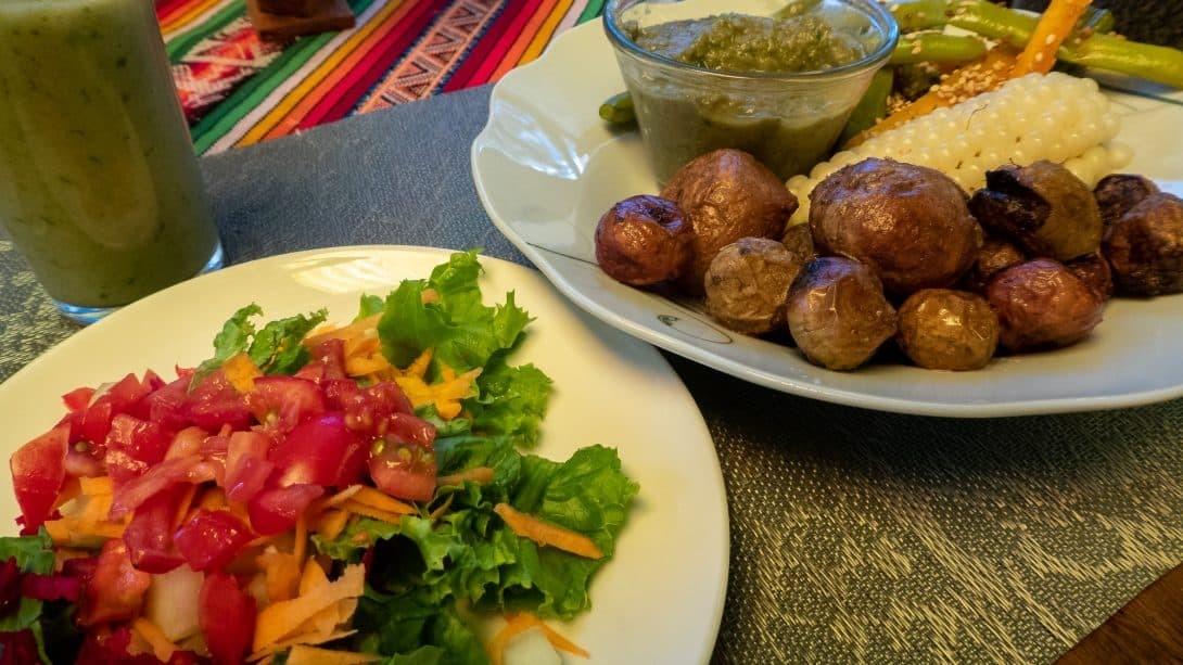 Vegan cuisine at Joshua Hostal