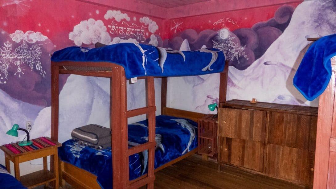 Themed rooms at Joshua Hostal, Copacabana.