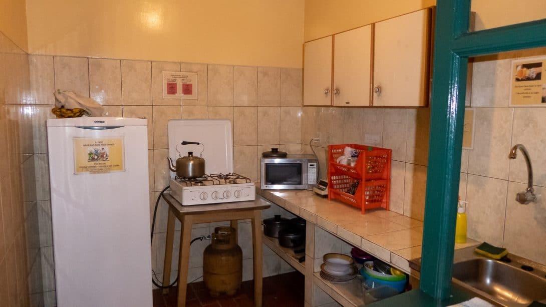 Kitchen at Arthy's Hostel, La Paz