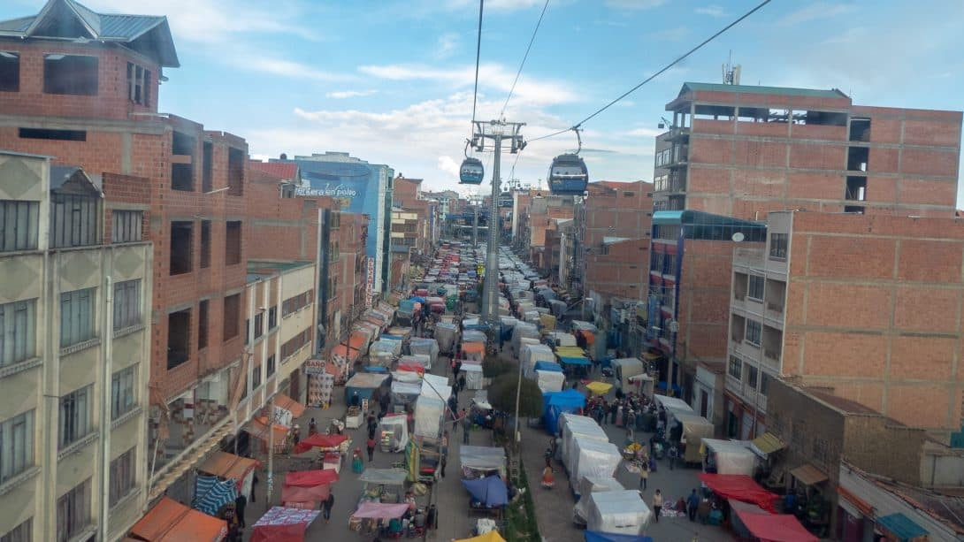 El Alto flea market, La Paz