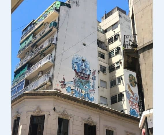 Street art in the colourful neighbourhood of San Telmo. Buenos Aires, Argentina.