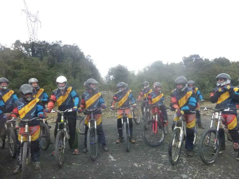 A Group Of Bikers Pause on their Ride