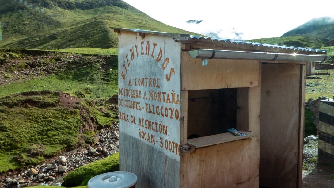 The Deserted Ticket Booth for Palccoyo Mountain