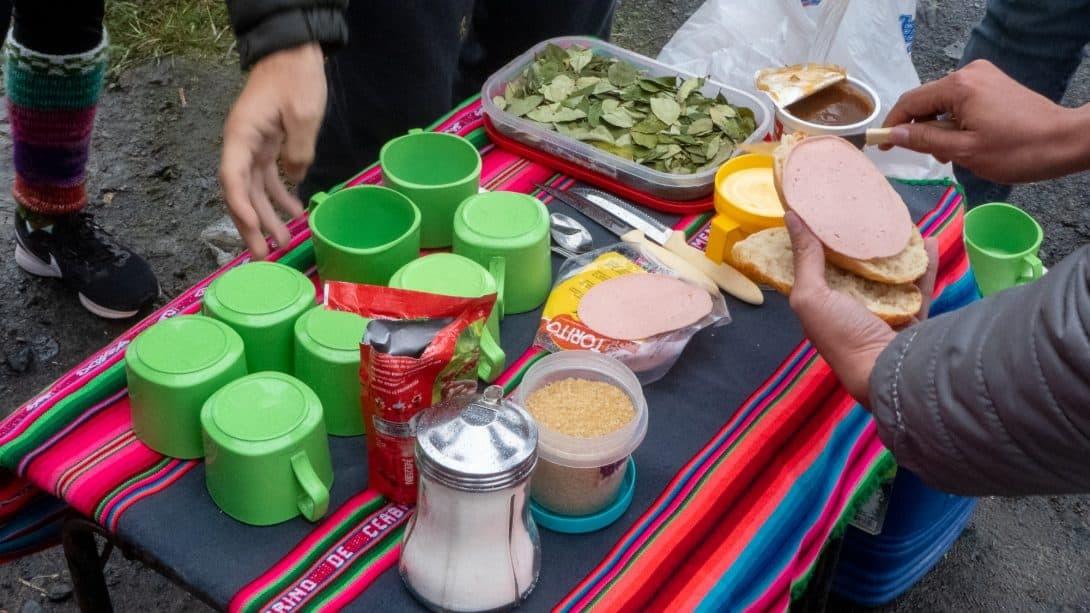 Breakfast provided by Bolivian Bike Junkies