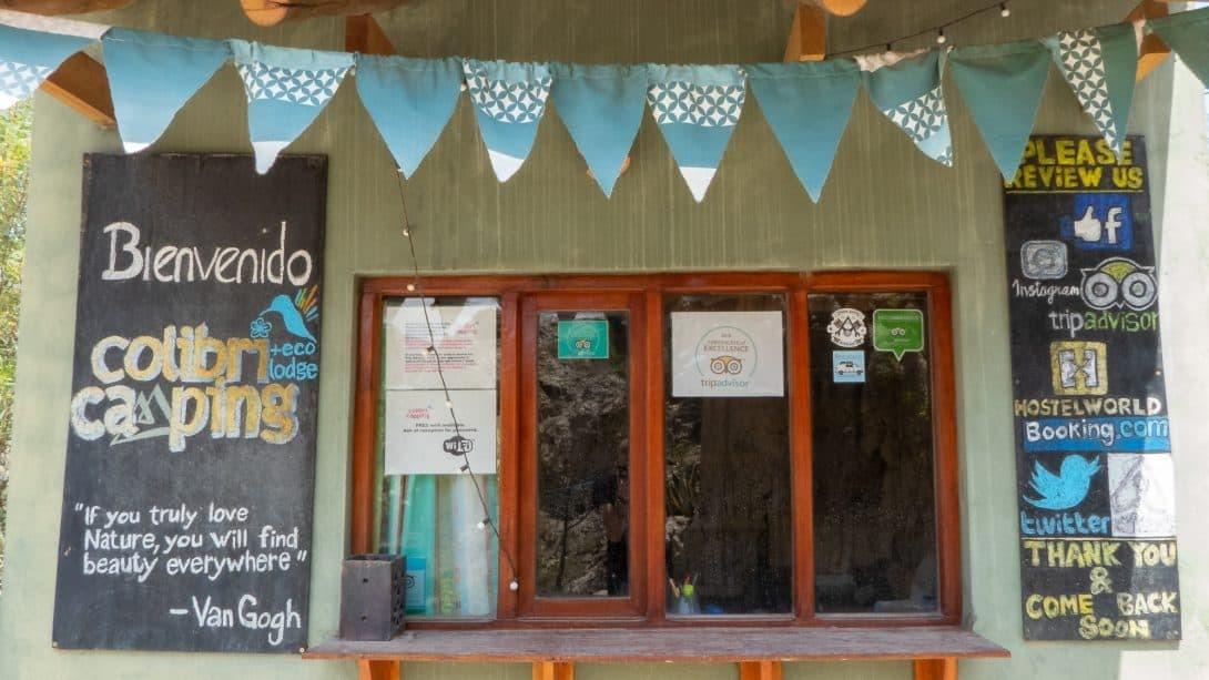 Colibri Camping reception