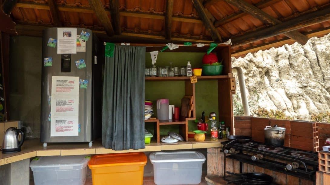 Kitchen at Colibri Camping