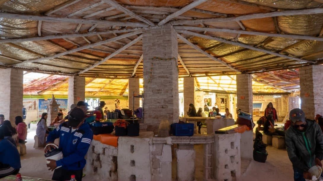 Salt Hotel interior, Salar de Uyuni Bolivia Salt Flats