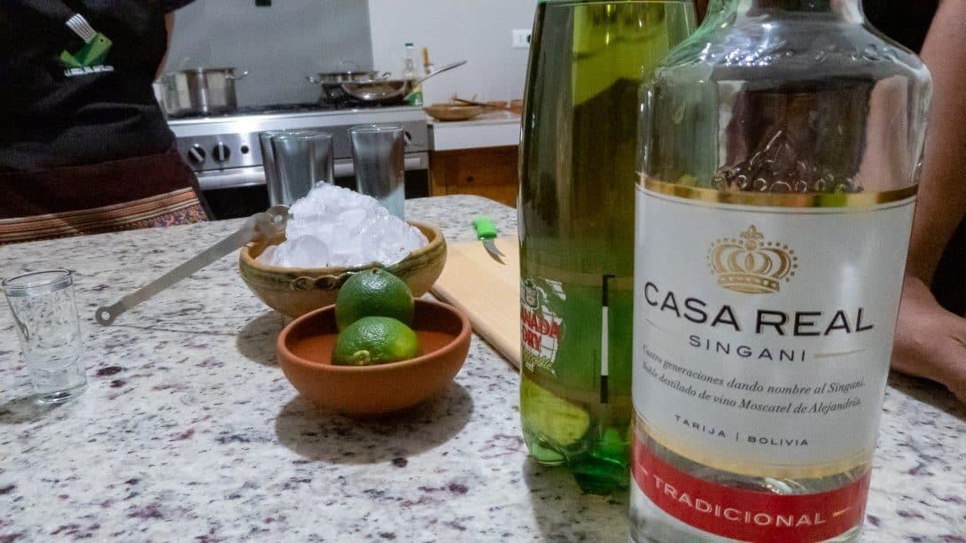 Singani Chuflay ingredients at La Boca del Sapo
