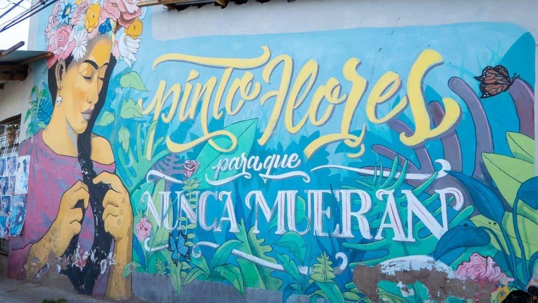 A Mural Seen on the Cochabamba Bike Art Tour, Bolivia