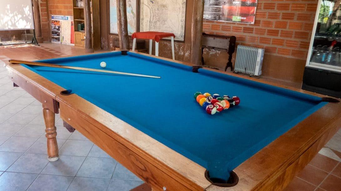 Pool table at Cabañas Las Lilas, Cochabamba