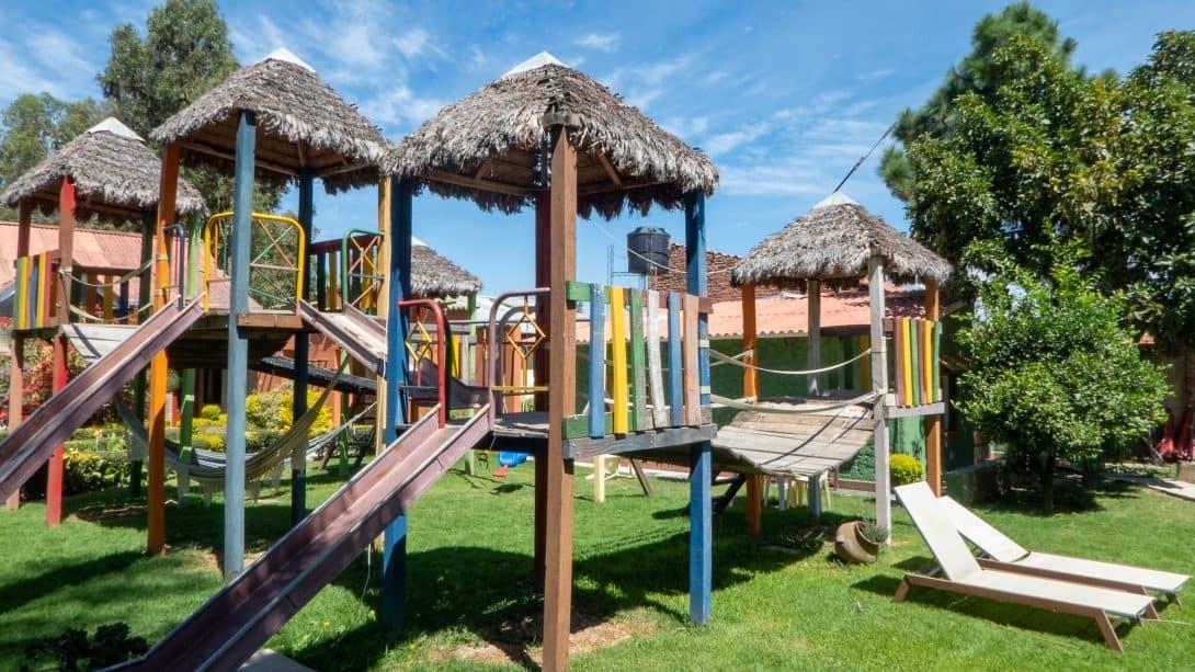 Jungle gym at Cabañas Las Lilas