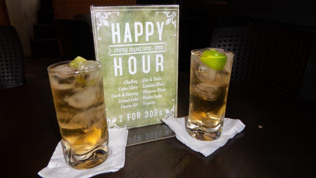 Cocktails at La Boheme bar, Samaipata