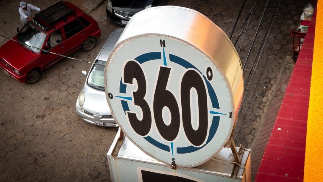 360 Grados signage