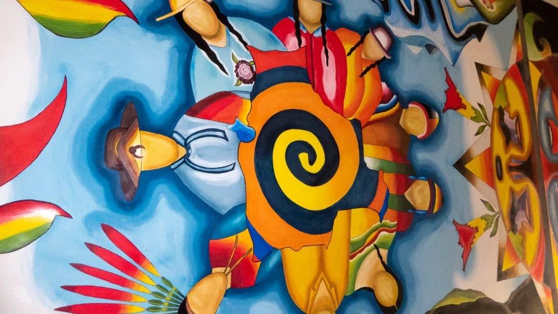 Artwork at 360 Grados Hostel