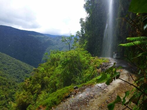 Death Road Cycling Tour - Waterfall
