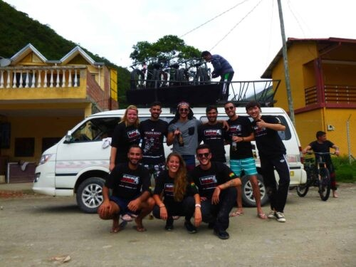 Death Road Cycling Tour - Van group