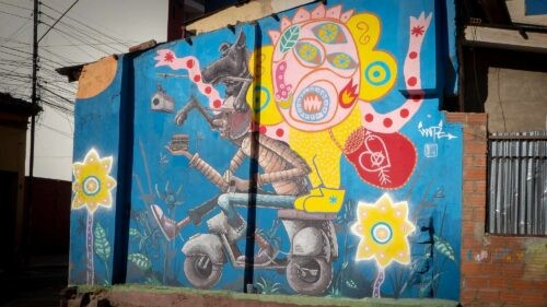 Street Art Tour By Bicycle - Small mural