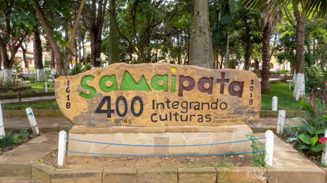 Samaipata village sign, near to Santa Cruz city.