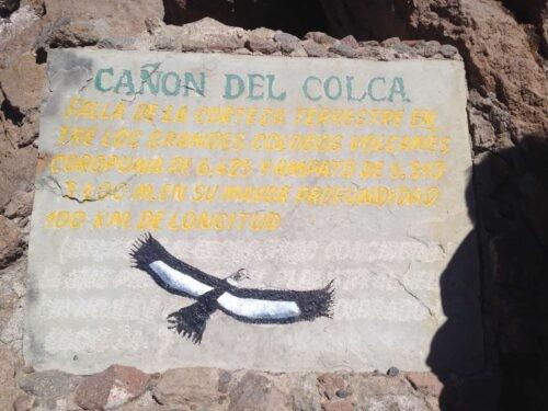 Colca Canyon Sign