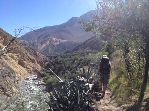Man Trekking at Colca Canyon