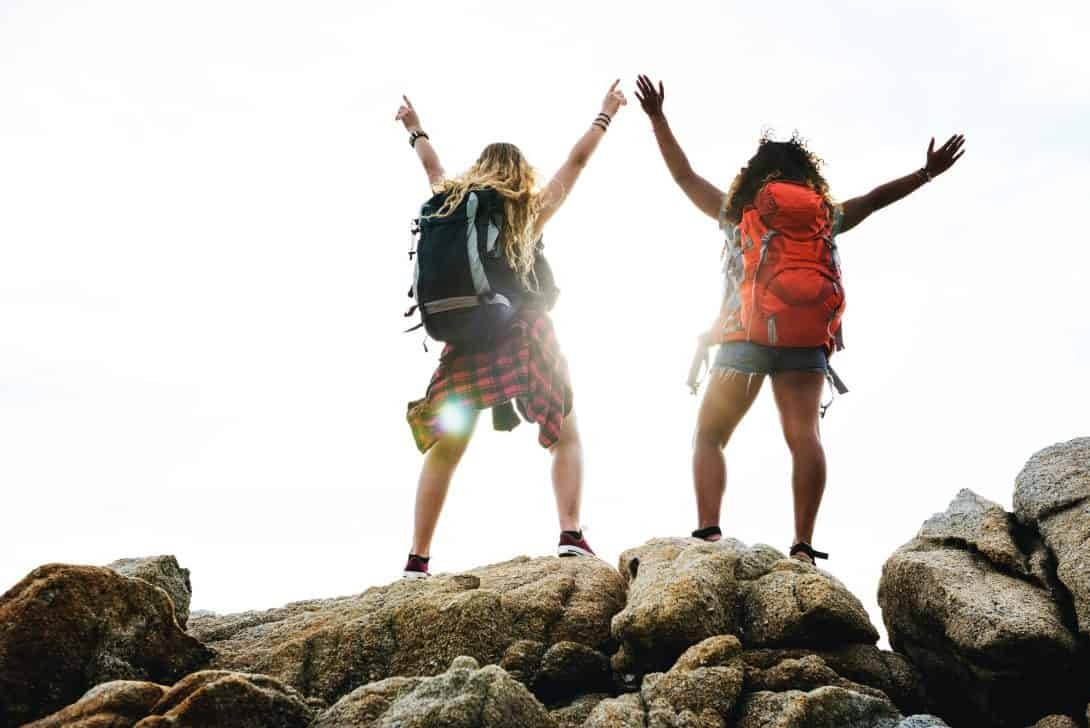 Backpackers in South America